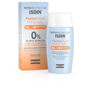 Faciales FOTOPROTECTOR FUSION FLUID MINERAL 0% filtros químicos SPF50 Isdin