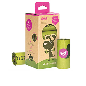 Poop bags and dispensers ROLLOS BOLSA mascota recambio #lavanda Earth Rated