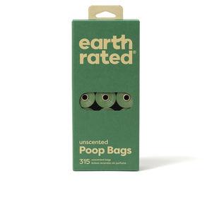 Poop bags and dispensers ROLLOS BOLSA mascota recambio #sin perfume Earth Rated