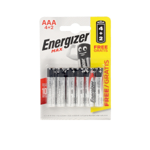 Pilas ENERGIZER MAX POWER LR03 AAA pilas pack x 6 uds Energizer