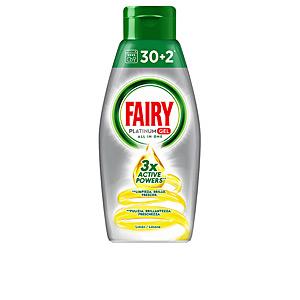 Dishwasher detergent FAIRY PLATINUM gel máquina limón Fairy