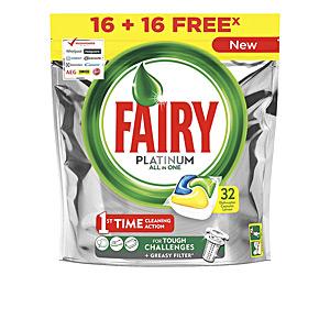 Dishwasher detergent FAIRY PLATINUM TODO EN 1 LIMON lavavajillas Fairy