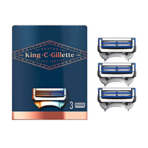 Outros produtos de limpeza GILLETTE KING neck razor blades x 3 cartridges Gillette