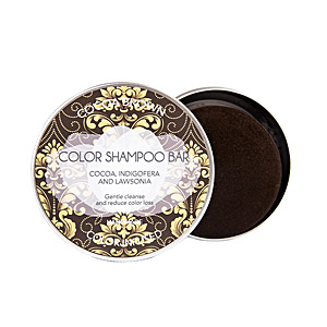 Colorcare shampoo - Moisturizing shampoo BIO SOLID cocoa brown shampoo bar Biocosme