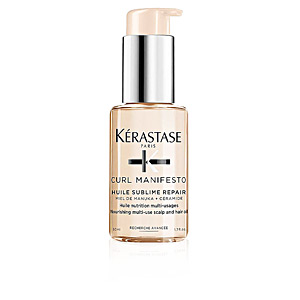 Hair moisturizer treatment CURL MANIFESTO huile sublime repair Kérastase