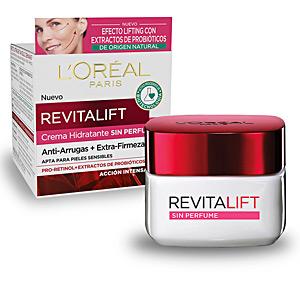 Skin tightening & firming cream  REVITALIFT SIN PERFUME piel sensible antiarrugas SPF15 L'Oréal París