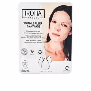 Cremas Antiarrugas y Antiedad - Mascarilla Facial - Tratamiento Facial Reafirmante WRINKLE FILLER & ANTI-AGE wrinkle filler face & neck mask Iroha Nature