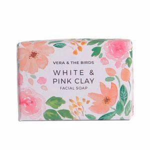Facial cleanser WHITE & PINK CLAY facial soap Vera & The Birds