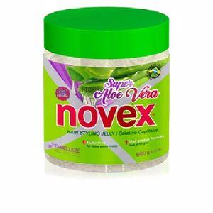 Producto de peinado SUPER ALOE VERA gelatina fijadora capilar Novex