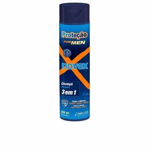 Champú hidratante PROTECTION FOR MEN shampoo 3 in 1 Novex