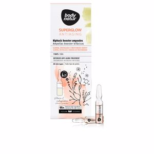 Anti aging cream & anti wrinkle treatment - Antioxidant treatment cream SUPERGLOW AMPOLLAS ampollas booster bifásicas Body Natur