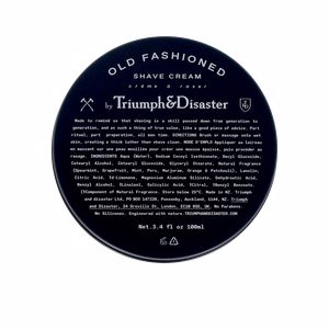 Shaving foam OLD FASHIONED shave cream jar Triumph & Disaster