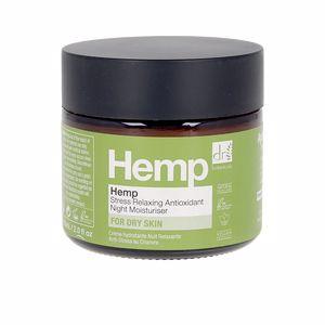 Antioxidant treatment cream - Face moisturizer HEMP stress relaxing antioxidant night moisturiser Dr. Botanicals