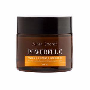 Anti aging cream & anti wrinkle treatment - Flash effect POWERFUL C antiedad iluminadora moringa SPF30 Alma Secret