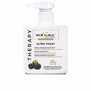 Champú color - Mascarilla para el pelo THERAPY ULTRA VIOLET cabellos blancos 2 en 1 champú-mascaril Voltage Cosmetics