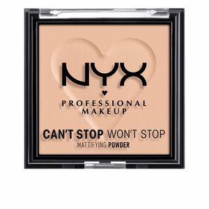 Polvo compacto CAN´T STOP WON´T STOP mattifying powder Nyx Professional Make Up