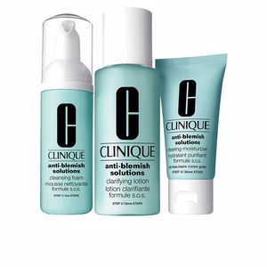 Tratamento Anti-acne, Poros e Cravos ANTI-BLEMISH SOLUTIONS 3-step skin care system Clinique