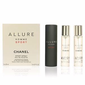 ALLURE HOMME SPORT travel spray and two refills 3 x 20 ml