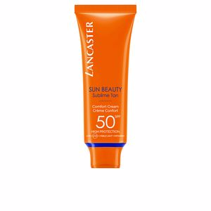 Faciales SUN BEAUTY comfort touch cream gentle tan SPF50 Lancaster