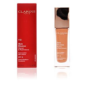 Foundation makeup SKIN ILLUSION teint lumière effet naturel Clarins