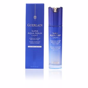 Face moisturizer SUPER AQUA-SERUM LIGHT hydratant intense repulpant rides Guerlain