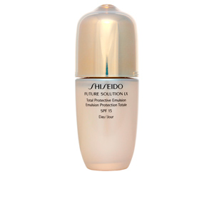 Anti-rugas e anti envelhecimento - Efeito Flash FUTURE SOLUTION LX total protective emulsion SPF15 Shiseido
