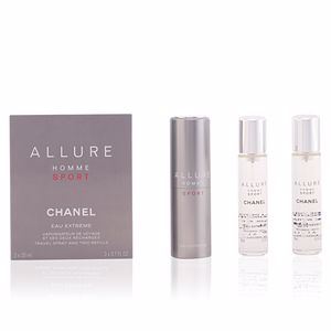 ALLURE HOMME SPORT eau extrême travel spray and two refills 3 x 20 ml
