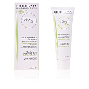 Acne Treatment Cream & blackhead removal SEBIUM MAT fluide hydratant matifiant Bioderma