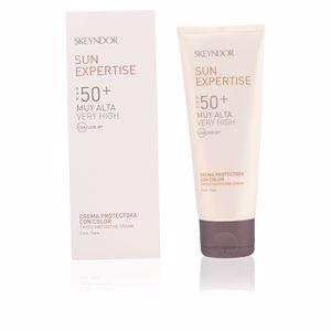 Facial SUN EXPERTISE crema protectora con color SPF50+ Skeyndor
