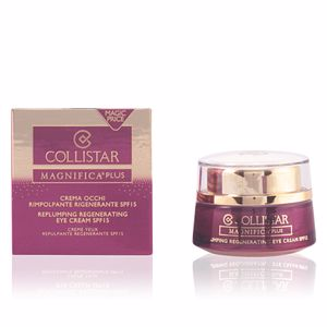 Tratamento papos e olheiras MAGNIFICA PLUS replumping regenerating eye cream SPF15 Collistar