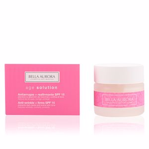 Anti aging cream & anti wrinkle treatment AGE SOLUTION antiarrugas y reafirmante SPF15 Bella Aurora