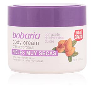 Hidratante corporal ACEITE ALMENDRAS DULCES body cream pieles muy secas Babaria
