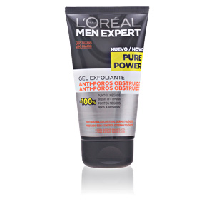 Exfoliante facial MEN EXPERT pure power cleansing scrub gel L'Oréal París