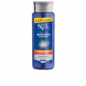 Anti hair fall shampoo CHAMPU ANTICAIDA cabello graso Naturvital