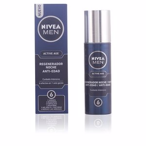 Anti aging cream & anti wrinkle treatment MEN ACTIVE AGE regenerador anti-edad intensivo noche Nivea