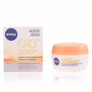 Antifatigue facial treatment Q10+ anti-arrugas cuidado de día energizante SPF15 Nivea