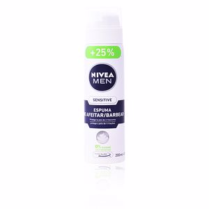 Mousse à raser MEN SENSITIVE 0% espuma de afeitar anti-irritación Nivea