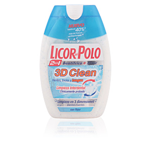Toothpaste 3D CLEAN 2 in 1  tooth paste Licor Del Polo