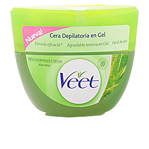 Cire à épiler CERA DEPILATORIA en gel aloe vera piel seca Veet