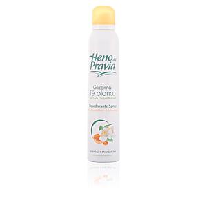 Deodorant GLICERINA TÉ BLANCO desodorante spray Heno De Pravia