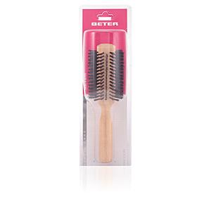 Cepillo para el pelo CEPILLO REDONDO, púas mixtas mango madera Oak 60 mm Beter
