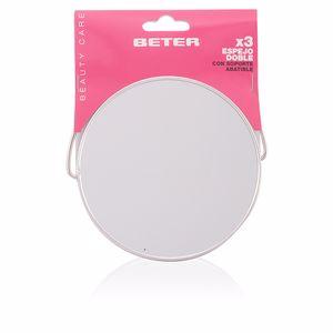 Specchio ESPEJO metálico doble con soporte abatible Beter