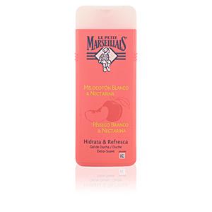 Gel de baño MELOCOTÓN BLANCO Y NECTARINA gel de ducha extra suave Le Petit Marseillais
