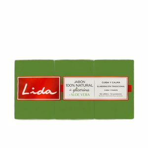 Savon parfumé JABÓN 100% NATURAL GLICERINA Y ALOE VERA COFFRET Lida