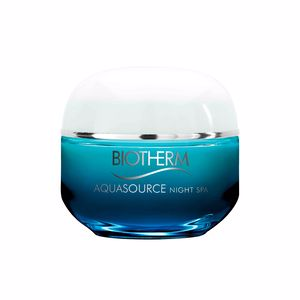 Face moisturizer AQUASOURCE night spa Biotherm