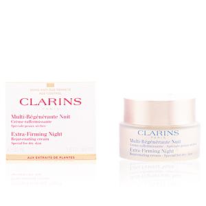 Skin tightening & firming cream  MULTI-RÉGÉNÉRANTE crème nuit peaux sèches Clarins