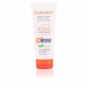 Ochrona Twarzy SOLAR ADN crema facial aloe vera SPF50 Babaria
