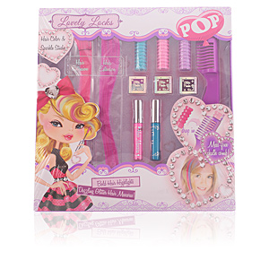 POP LOVELY LOCKS HAIR COLOR SPARKLE STUDIO 11 pz