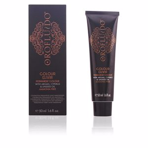 Dye COLOUR ELIXIR permanent colour #4.3 golden brown Orofluido