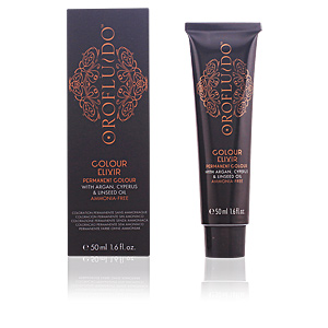 Tinte COLOUR ELIXIR permanent colour #5,35 light amber brown Orofluido